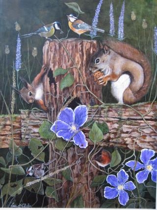 furbizia degli scoiattoli,il canto degli uccelli e il profumo dei fiori.