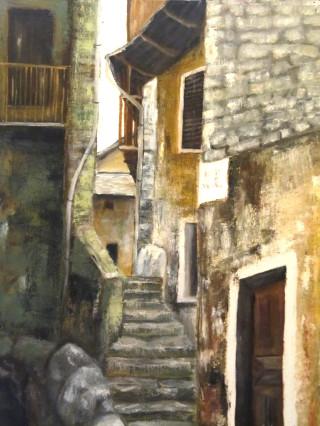 Angolo di vecchie case a Piero di Monteviasco
