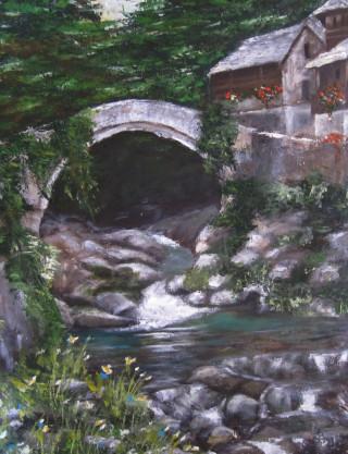 Acqua color smeraldo del fiume Sesia
